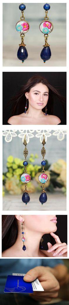 Colorful Jewelry Dangle Earrings - Multicolor Earrings - Statement Earrings - Fashion Earrings - Drop Earrings - Gift For Her https://www.etsy.com/listing/586723397/colorful-jewelry-dangle-earrings?share_time=1517246279000&utm_term=so.slt&utm_content=buffer26e28&utm_medium=social&utm_source=pinterest.com&utm_campaign=buffer #valentinesday #mothersday #armenian #armenia #handmade #jewelry #dropearrings #flowers #giftforher #stylishjewelry