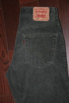 Levis 559 Mens Relaxed Fit Straight Leg Cords Jeans W 32 L Zip