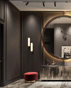 Portfolio: Apartment in residential complex «Capital Towers Bedroom Decor For Small Rooms, Master Bedroom Interior, Modern Interior Design, Luxury Interior, Dream Home Design, House Design, Elegant Dining Room, Residential Complex, Art Deco Design