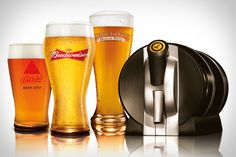 Draft beer at home. Holds a gallon. Every self-respecting beer drinker should want this. Want this beyond all imagining.