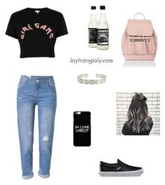 Untitled #86 by jaytranx on Polyvore featuring polyvore fashion style River Island WithChic Vans Accessorize clothing