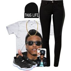 For All The August Alsina Lovers. That's Bae Tho., created by myia-nicole on Polyvore I REALLY NEED THIS OUTFIT