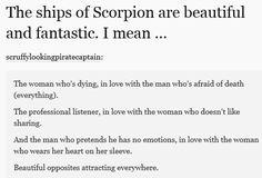 The ships are beautiful! Reason #9876567 that you should watch Scorpion