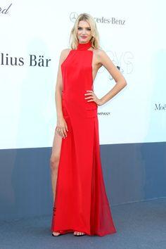 Lily Donaldson de Emilio Pucci - Gala amfAR en Cannes 2013