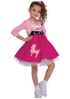 Toddler Poodle Skirt Costumes