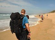Hikers on the trail Provinces Of South Africa, Catcher, Coastal, Trail, Hiking, Explore, Beach, Walks, The Beach