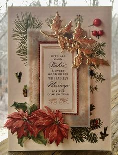2019 Christmas card created using the Anna Griffin Christmas Botanical Card Topper set. Good Cheer, Anna Griffin, Christmas Cards, Create, Card Ideas, Xmas Cards, Christmas Greetings, Christmas Letters, Merry Christmas Card