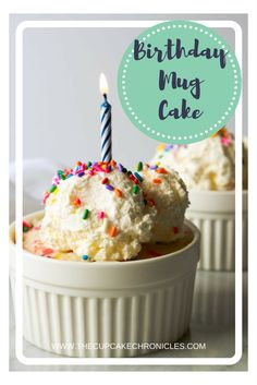 Quick and easy funfetti mug cake that you can make in the microwave!