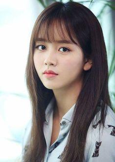 New hair styles korean bangs ideas Wispy Bangs, Long Hair With Bangs, Haircuts With Bangs, Hair Bangs, Bangs Updo, Afro Hair, Asian Bangs, Asian Hair, Korean Long Hair