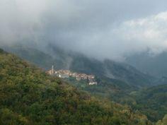 Uitzicht vanaf terras in Verzano (herfst)
