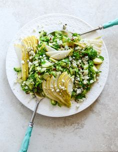 brussels sprouts salad w pears