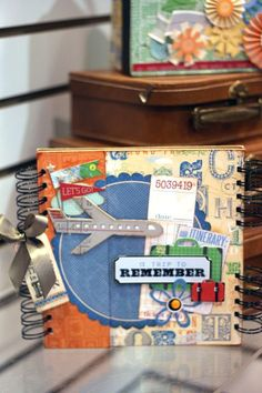 travel-good cover for a journal or mini scrapbook