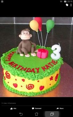 George The Curious Monkey cake.