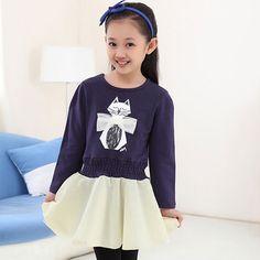 Cheap dress bag, Buy Quality dress mini directly from China dress sleep Suppliers:               2015 NEW Spring Girls Flower Dress Children Patchwork Long Sleeve Princess Straight Dresses Ki