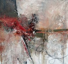 """Fragments"" by Lisa Boardwine - Mixed Media Collage on canvas ~ 36 x 36"