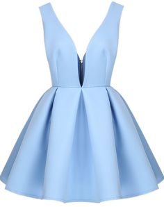 Light Blue Homecoming Dress