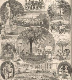Tous au #parc ! Déjà en 1899, les sorties au square séduisent tous les #lyonnais... Mais à chacun son divertissement : couture au grand air, balade romantique, lecture, jeux, rencontres... même les chiens ont leur terrain ! Certains sont encore des points de rendez-vous comme le square #Raspail dans le 7e arrondissement de #Lyon #numelyon #LyonAvant