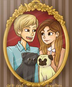 Pie Family by artandmartini Pies and pugs