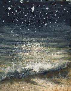 Bill Jacklin RA's STARS AND SEA AT NIGHT III at the RA Summer Exhibition 2015