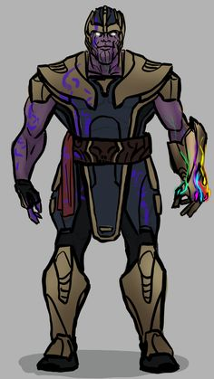 Thanos - I wanted to make him a bit more ceremonial and mix his purpose, maybe Death wants him to balance the universe since the heroes have been saving so many people. Marvel Dc, Thanos Marvel, Comic Books Art, Comic Art, Marvel Universe Characters, Dc Comics, Superhero Design, Spiderman Art, Marvel Comic Character