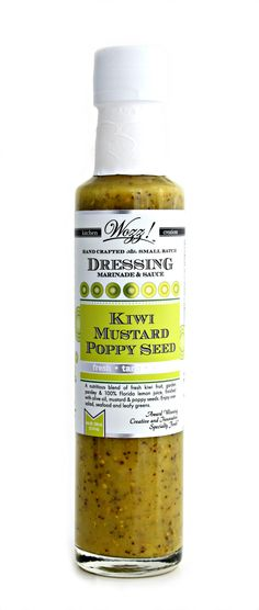 Kiwi Mustard Poppy Seed Dressing