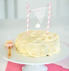Hot milk sponge cake with vanilla buttercream