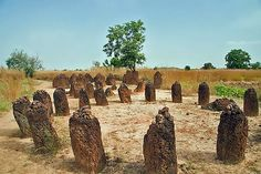 The ancient Wassu Stone Circles, in Gambia, are located around Wassu in the Central River Region and are believed to be burial mounds of Kings and chiefs in ancient times over 1,200