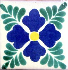 12 4 x 4 Talavera Handpainted Mexican Tiles. Please Note: Your item is custom made for you by an Artisan in Mexico. Your item will ship in less than 10 days. Fedex Domestic Shipping with Door to door tracking from Texas. Azulejos Art Nouveau, Talavera Pottery, Ceramic Pottery, Ceramic Art, Mexican Art, Mexican Tiles, Clay Tiles, Cement Tiles, Spanish Tile