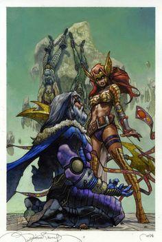 Odin and Angela by Simone Bianchi