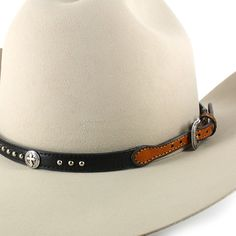 d83c75a8c4f Cody James Leather Cross and Stud Concho Hat Band Western Belt Buckles