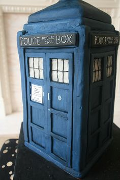 Nerd love a Doctor Who cake Tardis design from Dr Who