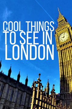 Colorful & Cool places to see in London - And it's all for FREE.