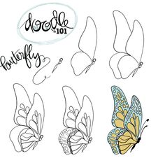 Doodle Doodle Doodle – Related posts:Kunst-Skizzen-Ideen - Kunstbild - # Check more at sketch. Pencil Art Drawings, Doodle Drawings, Art Drawings Sketches, Doodle Art, Easy Drawings, Butterfly Art, Butterflies, How To Draw Butterfly, Butterfly Painting