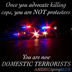 I have nothing against peaceful protest, but killing people is not a protest. Protesters that cause destruction to property and hurt/kill people are Domestic Terrorists. They are nothing but thugs looking for a reason to spread their violence. Police Quotes, Police Wife Life, Police Family, Support Law Enforcement, Law Enforcement Quotes, Police Lives Matter, Peaceful Protest, H & M Home, Thin Blue Lines