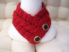 Crochet Cable Stitch Neck warmer