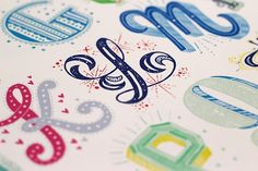 Ladies of Letters Late last year Melbourne based studio buddies, Carla Hackett and Amy Constable, collaborated to produce these wonderful, hand-made 'Alphabet City' prints. Lettered by Carla and. Inspiration Typographie, Typography Inspiration, Lettering Design, Hand Lettering, Best Graffiti, Graffiti Art, Literacy And Numeracy, Alphabet City, Beautiful Lettering