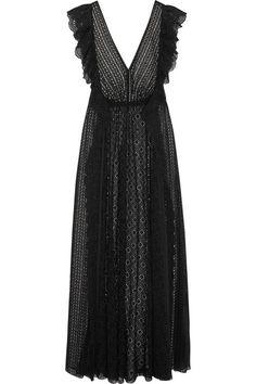 Philosophy di Lorenzo Serafini | Ruffled broderie anglaise cotton-blend and chiffon maxi dress | NET-A-PORTER.COM