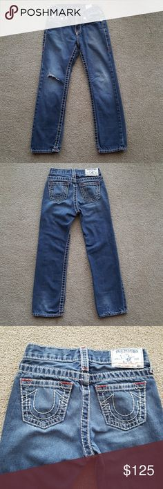 Authentic True Religion jeans for boys Boys size 7 jeans. Inseam is 21.5 inches. Comes from a clean, pet free and smoke free home. Feel free to ask questions. No trades. Posh offers only. True Religion Bottoms Jeans