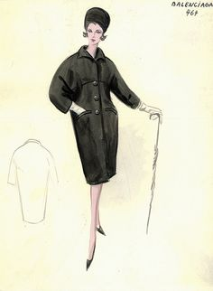 Balenciaga Coat by FIT Library Department of Special Collections, via Flickr