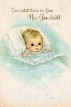grandchild - vintage baby card