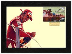 44cb2d77e Fernando Alonso Ferrari F1 Bespoke Framed Authentic Signed Photo Autograph  Display w  COA UACC Ferrari