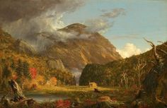 Thomas Cole, A View of the Mountain Pass Called the Notch of the White Mountains (Crawford Notch) (1839), via Artsy.net
