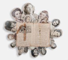 Love Always, Juanita Mixed media book collage, 5.5 x 10.5 x 1 inches, 2008 Lisa Kokin