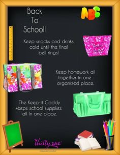 Back to school must-have's Thirty One Totes, My Thirty One, Thirty One Gifts, School Must Haves, 31 Party, Thirty One Consultant, Independent Consultant, Thirty One Business, 31 Bags