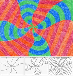 Op Art is a math-themed form of abstract art, which uses repetition of simple forms and colors to create optical effects