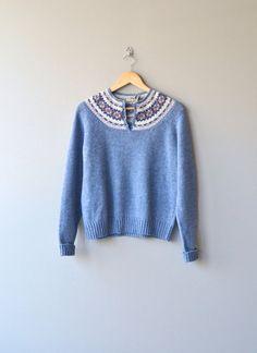 L.L. Bean fair isle sweater vintage fair isle by DearGolden