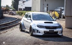 Subaru WRX Sti performing with sporty, so many consumers are approached because adrift in terms of body and elegant look. Subaru Wrx Hatchback, Subaru Impreza, Subaru Forester, Japanese Domestic Market, Slammed Cars, Jdm Cars, Tuner Cars, Subaru Cars, Jdm Subaru