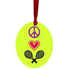 Aluminum tennis ornament!