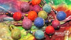 Wet-felted wool bead earrings partner with glass and novelty beads to craft beautiful earrings and jewelry and make a fun class I teach! Wool Felt, Felted Wool, Crafts Beautiful, Wet Felting, Work Inspiration, Keepsakes, Bead Earrings, Beautiful Earrings, Annie