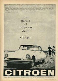 Citroën DS advert 1958